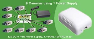 9 Port 12V DC / 24V AC Power Distribution Box