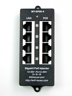 4 Port Wall Mount POE Injector Gigabit