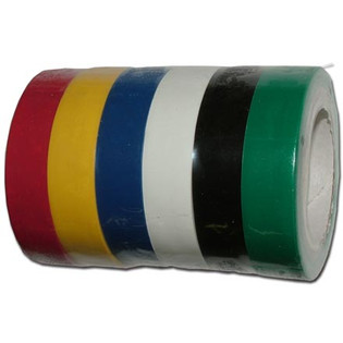 (6) Colored Electrical Tape 1/2in x 20ft U.L.
