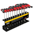 Klein T-Handle Set with Stand, SAE, 4'' Blade 10 Pc JTH410E