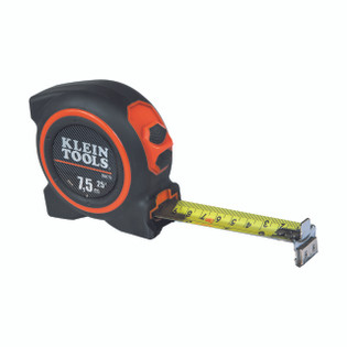 Klein Tape Measure 7.5 m Magnetic Double Hook 86675
