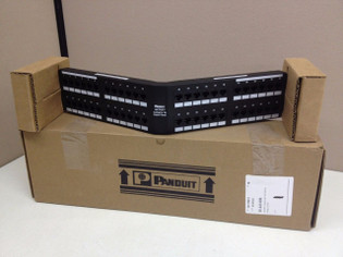 Panduit 48 Port Category 5E Angled Patch Panel 2U NKA5EPPG48/N