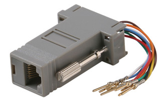 Male DE9 (DB9) to 8P8C Modular Jack RJ45