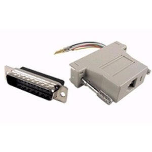 Male DB25  to 8P8C Modular Jack RJ45