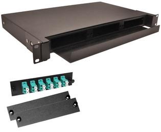 12 Port LC MM Connectors Rack Mount Fiber Enclosure 10 Gig