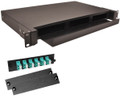 12 Port LC MM Connectors Rack Mount Fiber Enclosure 10 Gig