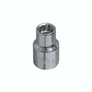 Klein 1/2'' Std 12-Point Socket - 1/2'' Drive 65801