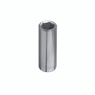 Klein 1/2'' Deep 6-Point Socket, 1/4'' Drive 65616