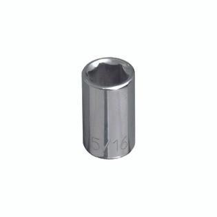 Klein 7/16'' Std 6-Point Socket - 1/4'' Drive 65607