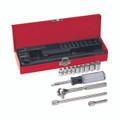Klein 1/4'' Drive Socket Wrench Set, 13 Pc 65500