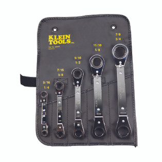 Klein 5 Piece Ratcheting Box Wrench Set 68221