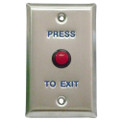 Request to Exit Small Red Button LED Light Normally Open