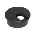 "1 3/4"" Round Wire Management Grommet with Removable Cover Black"