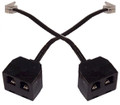 Two Way Telephone Handset Splitter Headset Y