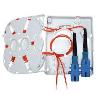 Newtech 552-102 2 Port Fiber Termination box FTTH Wall Mount