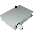 Newtech 552-105 4 Port Metal Fiber Termination Wall Mount Box
