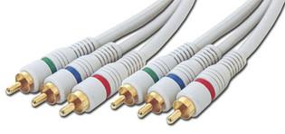 100' Python Component Video Cables RGB 3 x RCA