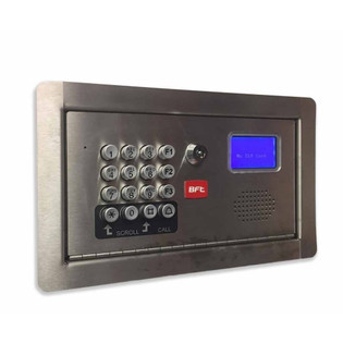 BFT Cell Multi Cellular Intercom for up to 500 Apartments Flush Mount