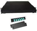 Fiber Rackmount Panel Front Panel Covered 12 LC OM3 MM 10 Gigabit