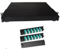 Fiber Rackmount Panel Front Panel Covered 24 LC MM OM3 10 Gigabit