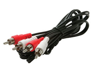 6' 2-RCA Stereo Audio Patch Cord