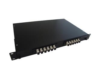 12 Port Rack Mount Fiber Enclosure Pre-Loaded with SC MM Connectors