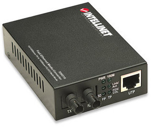 ST to RJ45 Ethernet Media Converter Multimode 10/100