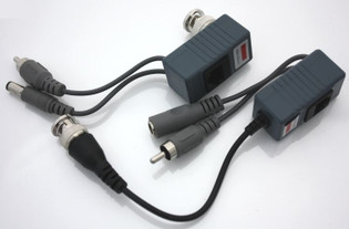 CCTV UTP Category 5 to BNC Video Balun, with Audio and Power