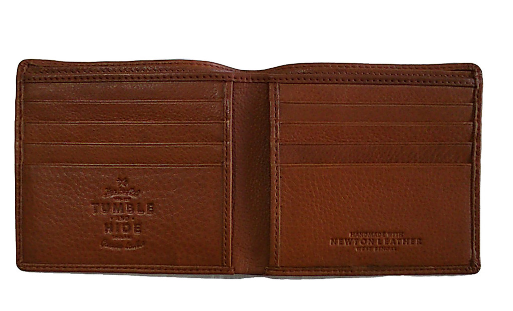 Newton Tan Leather East West Basal Wallet