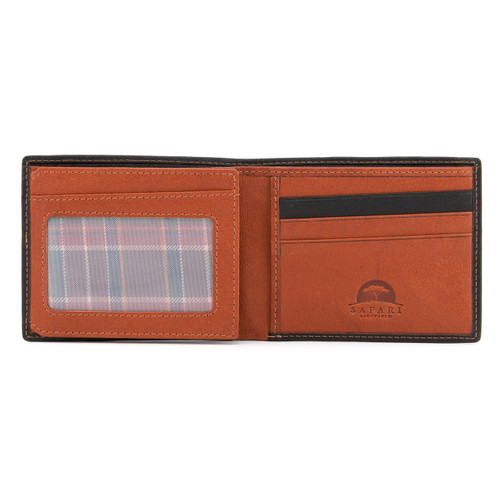 Safari Brown/Camel Two Fold Wallet