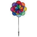In the Breeze - 24 Petal Flower Triple Wheel Spinner Rainbow