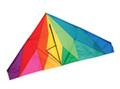 """Skydog Kites - 55"""" Delta """"Crystal Delta"""""""