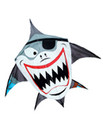 Skydog Kites-Pirate Shark 44""