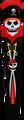 Skydog Kites - Skull Pirate 24' Mod Dragon