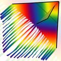 "New Tech kites - 5' Fringetail Delta ""Tie Dye"""