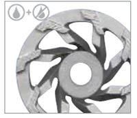 "7"" Norton Classic Swirl Diamond Cup Wheel"
