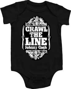 Johnny Cash Crawl the Line Baby Onesie