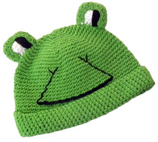 Green Froggy Crochet Baby Hat