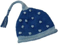 Blue Tassle Baby Hat