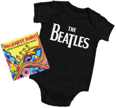 Beatles Onesie and Beatles Rockabye Lullaby CD Gift Set