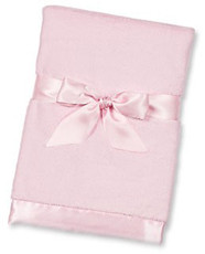 Pink Silky Soft Security Blanket