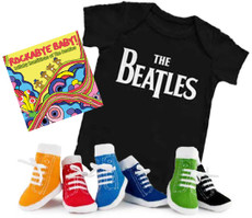 Beatles Onesie CD & Socks Boys Gift Set