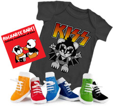 Kiss Onesie CD and Socks Boys Gift Set