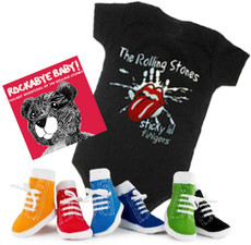 Rolling Stones Onesie CD and Socks Boys Gift Set