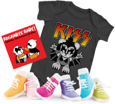 Kiss Onesie CD and Socks Girls Gift Set