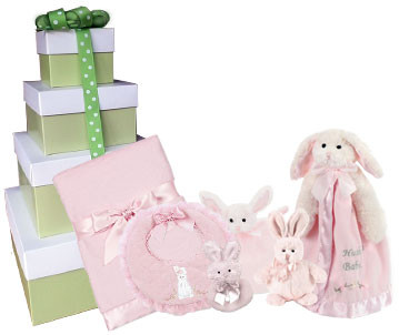 Pink Cottontail Gift Tower