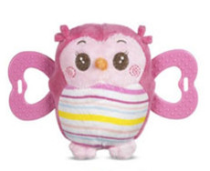 Adorable Owl Teether Pink