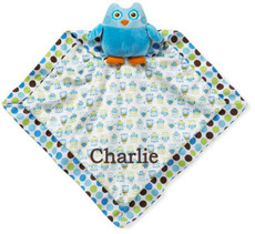 Adorable Owl Blankie Blue