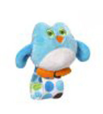 Adorable Owl Wrist Rattle Blue