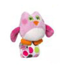Adorable Owl Wrist Rattle Pink
